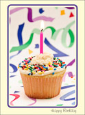 Go crazy, blow your diet, have a cupcake,because birthdays only come once a year!