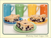 Blueberry coffee cake, the breakfast of champions.