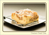 Happiness can be as simple as a good cup of coffee and a big ol'piece of coffee cake.